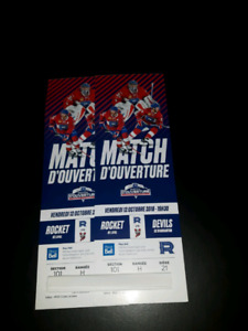 Billets Rocket Laval Canadien Place Bell match ouverture 101