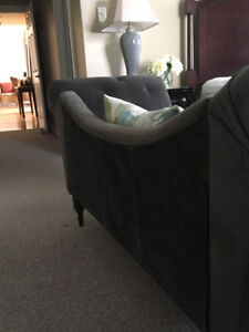 Tufted Velvet Chaise Lounge - new condition