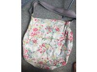 Large Cath Kidston fabric messenger bag