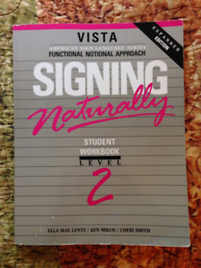 Vista Signing Naturally Level 2 - Deaf Studies Text Book