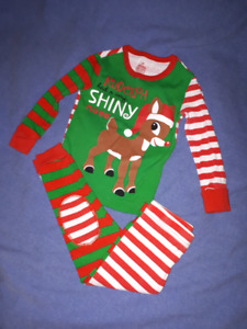 Rudolph the Red Nose Reindeer 2pc Christmas PJ's Size 2T,EUC