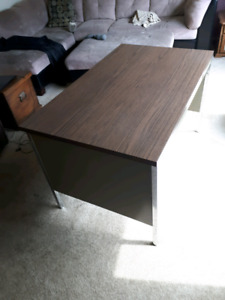 Large Metal Desk with Drawer