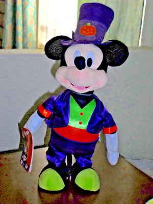 Disney Side Halloween (Disney Halloween Animated Side Stepper Mickey Mouse Plush -)