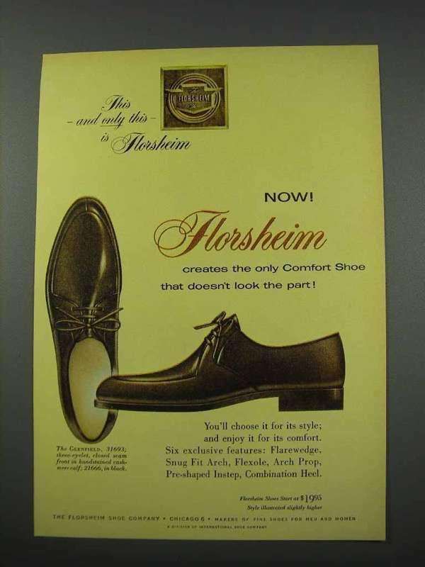 1961 Florsheim Glenfield 31693 Shoe Ad - Comfort