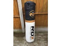RDX filled Punch bag, gloves and wall bracket (used)
