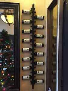 10 or 12 bottle handmade wall mounted wine rack