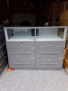 "Display Cabinets on rollers 3 sizes  2- 4'x2'x40"" $350 each  4'x"