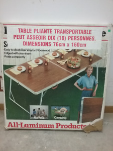 Aluminum fold-up camping table for sale (BRAND NEW)