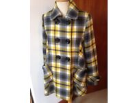 🌟🔱💛 Brand new & tagged size 14 Whistles yellow & grey checked coat