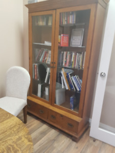 Antique Tiger Oak Cabinet