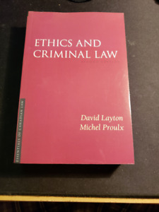 Ethics and Criminal Law
