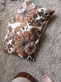 Cushions . Pair vintage mid century