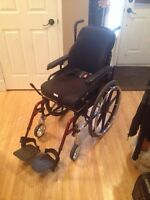 Invacare Wheelchair with Removable Amp Board
