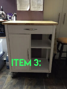 Small rolling butcher block island
