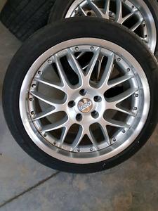 Mag 5x130 et pneus bbs 21 inch.porsche cayenne, audi, vw