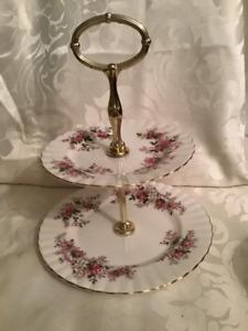 Royal Albert Lavender Rose 2 Tier Tidbit Tray
