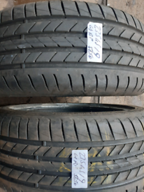 235 45 19 part worn tyres matching pair Goodyear runflats used tires