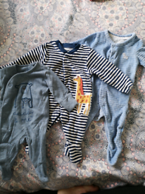 Baby boys first size/newborn/up to 1 month clothes