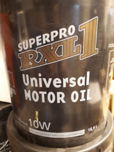NEW PAILS OF UNIVERSAL MOTOR OIL - GARAGE CLOSE OUT - $25.