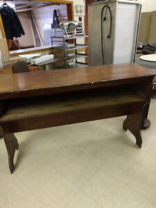 Beautiful antique sold wood table