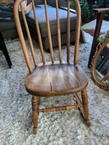 Ladies antique wooden rocker
