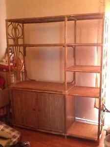 Wicker tv stand for sale.