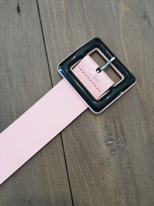 French Connection patent pink belt, size M
