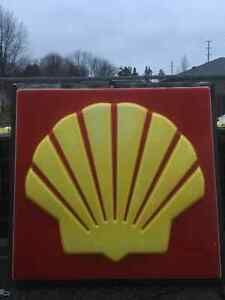 Vintage shell signs (pair)