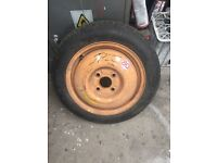 4x100 space saver spare tyre, suits 4 stud Honda, vw group and Vauxhall