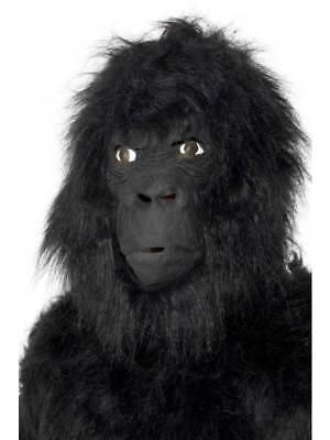 Gorilla Maske Affe Schimpanse King Kong Zoo Affe Tier Schwarz Kostüm Halloween