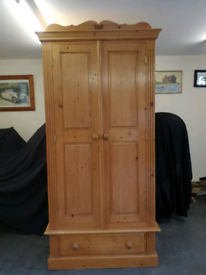 Double Solid pine wardrobe,