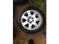 "Audi a2 4 x 15"" alloy wheel set genuine audi 5 stud"
