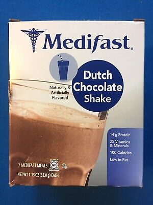 Medifast Dutch Chocolate Shake   7 Meals W Box   Fresh   Free Shipping