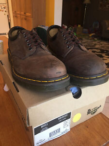 Brown Dr. Martens shoes
