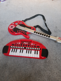 ELC guitar and small keyboard.