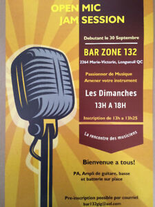 Open Mic - Jam session a Longueuil