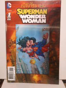 Superman Wonder Woman 3D lenticular cover