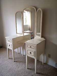 Antique Vanity and Highboy, great condition!