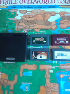 GBA SP with rpg games
