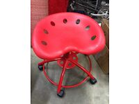 IKEA red desk chair