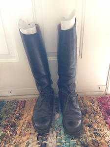 Leather Field Boots Size 9.5