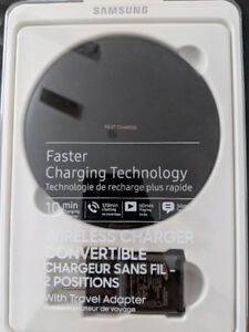 """Samsung Wireless Charger w/2 positions """"Faster Charging"""""""