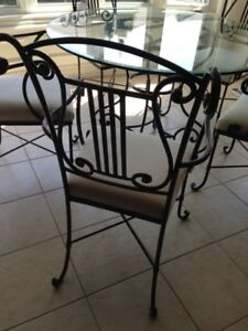 Glass Dining Table with 5 chairs - Bombay Company