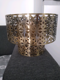 Two tier pendant shade