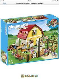 Playmobile 5222 country children's pony farm