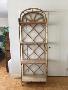 Vintage Rattan Bookcase