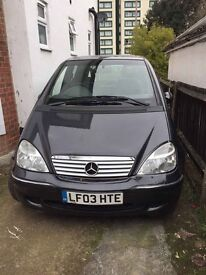 Mercedes A170CDI full automatic, roof, diesel, A/C, leather