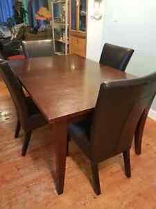 Solid wood kitchen table - espresso finish
