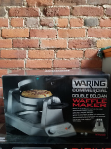 100% NEW WARING SINGLE & DOUBLE WAFFLE MAKERS 4 SALE PLUS MORE