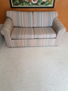 Sofa love seat with pull out twin bed